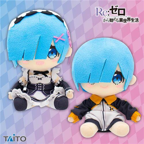 Re:ZERO Starting Life in a Different World REM  Stuffed Plush (set/2)