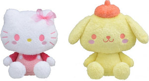 Sanrio Characters Cotton Candy - Hello Kitty Pompompurin - Special  Large Plush - Yurukawa Design (Set of 2)
