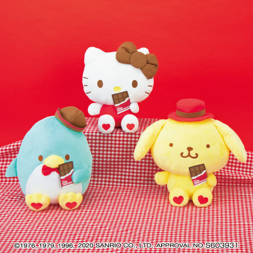Sanrio Characters LOVE chocolate Big Stuffed Plush (set of 3)