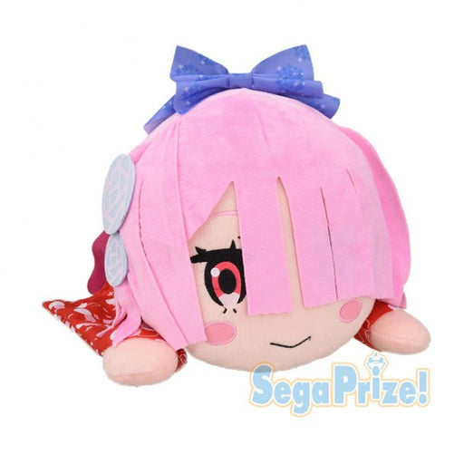 Re:Zero -Starting Life in Another World Jumbo Nesoberi  Lying Down Plush - RAM Nagomi Style