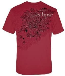 the twilight saga Eclipse Wolf Pack Tattoo with Swirls T-Shirt Red