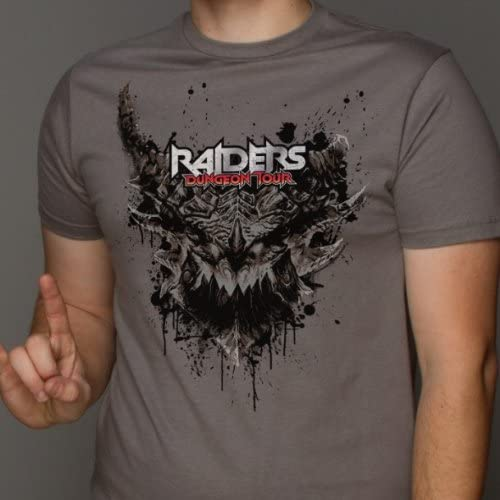 World of Warcraft Raiders Dungeon Tour Men Charcoal T-Shirt
