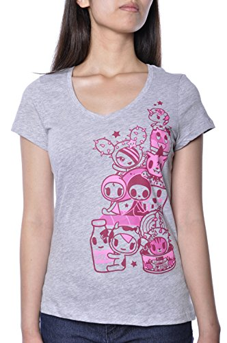 Tokidoki Highlighter Characters Grey T-Shirt