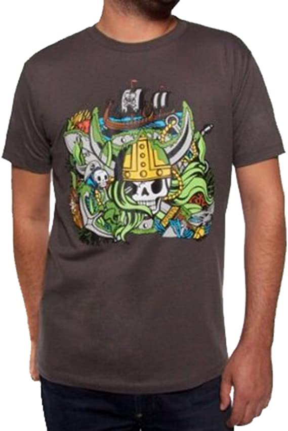 Tokidoki Viking Men Charcoal T-shirt