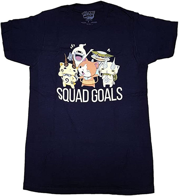 Yokai Watch Yo-Kai Watch Squad Goals Adult Men Navy T-Shirt