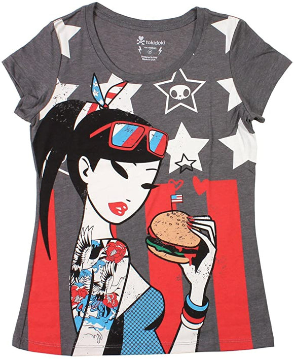 Tokidoki Double Double Junior Charcoal T-shirt