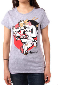 Tokidoki Kyoto Womens Heather Grey T-Shirt
