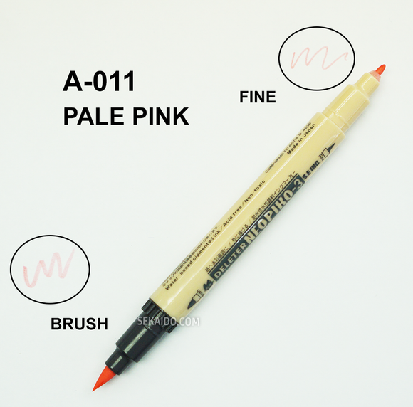 DELETER Neopiko-3 Pale Pink (A-011) Dual-tipped Water-based Fabric Marker