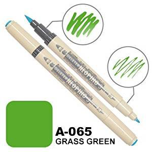 DELETER Neopiko-3 Grass Green (A-065) Dual-tipped Water-based Fabric Marker