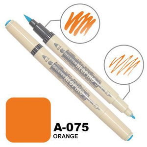DELETER Neopiko-3 Orange (A-075) Dual-Tipped Water-based Fabric Marker