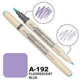 DELETER Neopiko-3 Fluorescent Blue (A-192) Dual-tipped Water-based Fabric Marker