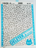 DELETER Jr. Screentone - 182 x 253mm - JR-157 (Maple Leaves Pattern)