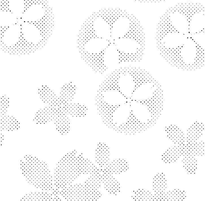 DELETER Jr. Screentone - 182 x 253mm - JR-508 (Cherry Blossom Pattern)