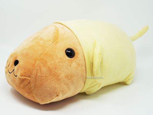 Kapibara-san (Mr.Capybara) - Kyupi Kyupi Kyuppi-san 10th Anniversary Large Plush - Brown & Yellow Ver.