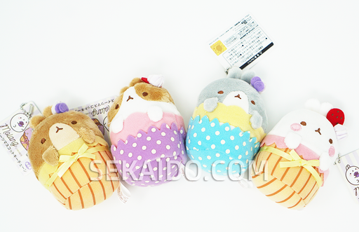 Molang the happy rabbit - Sweets Keychain Plush
