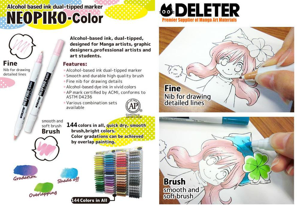 DELETER NEOPIKO-COLOR Wine Red (371) Alcohol-based Twin-type Marker
