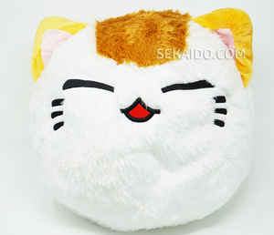 Nemuneko Cute Fluffy Round Face Plush - White Color