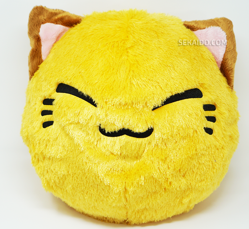 Nemuneko Cute Fluffy Round Face Plush - Light Brown