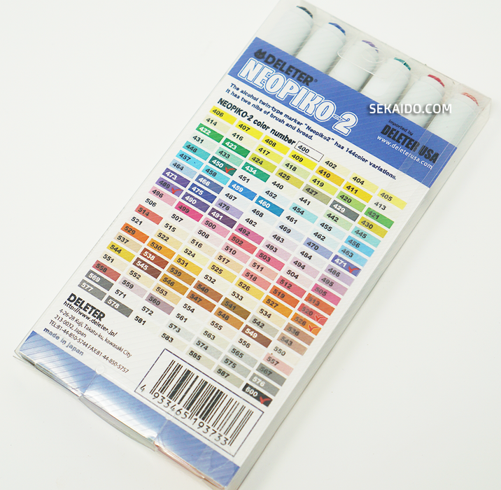 DELETER Neopiko-2 Dual-tipped Alcohol-based Marker - Bright Set