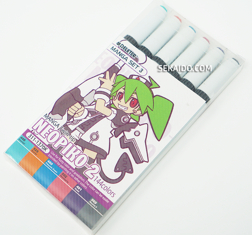DELETER Neopiko-2 Dual-tipped Alcohol-based Marker - Manga Set 3