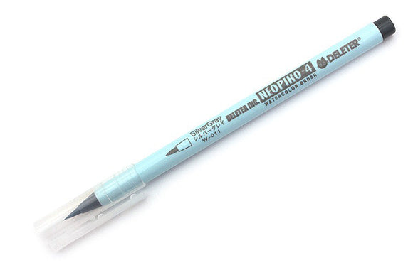DELETER Neopiko-4 Watercolor Brush Pen - Silver Gray (W-011)