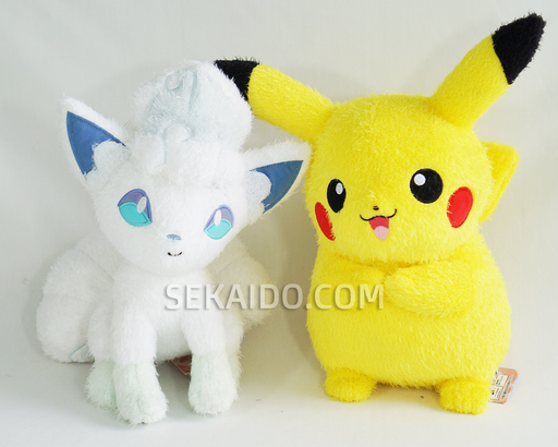 Pokemon Sun & Moon - Alolan Vulpix and Pikachu Plush (Standing Position)