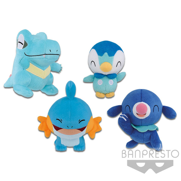 Pokemon Sun and Moon - Totodile, Mudkip, Piplup, and Popplio Plush