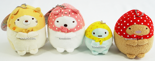 Sumikko Gurashi in Wrapping Cloth Chain Plush - Neko, Shirokuma, Tapioca, Tonkatsu