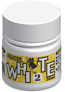 DELETER White 2 Manga Ink - Aqueous White-out & Waterproof - 30ml Bottle