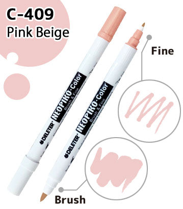 DELETER NEOPIKO-COLOR Pink Beige (367) Alcohol-based Twin-type Marker