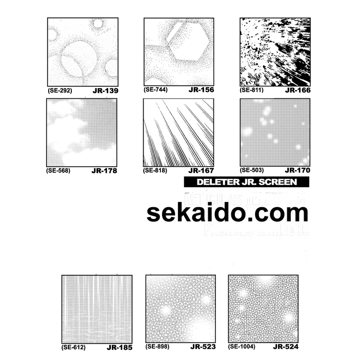 DELETER Jr. Screentone - 182 x 253mm - JR-523 (Lights and Snow Effect Pattern)