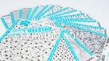 DELETER Jr. Screentone - 182 x 253mm - JR-515 (White Circles and Ovals Gradation)