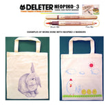 DELETER Neopiko-3 Smoky 6 Colors Set Dual-tipped Water-based Fabric Marker
