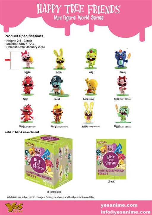 Happy Tree Friends World Series Mini Figures
