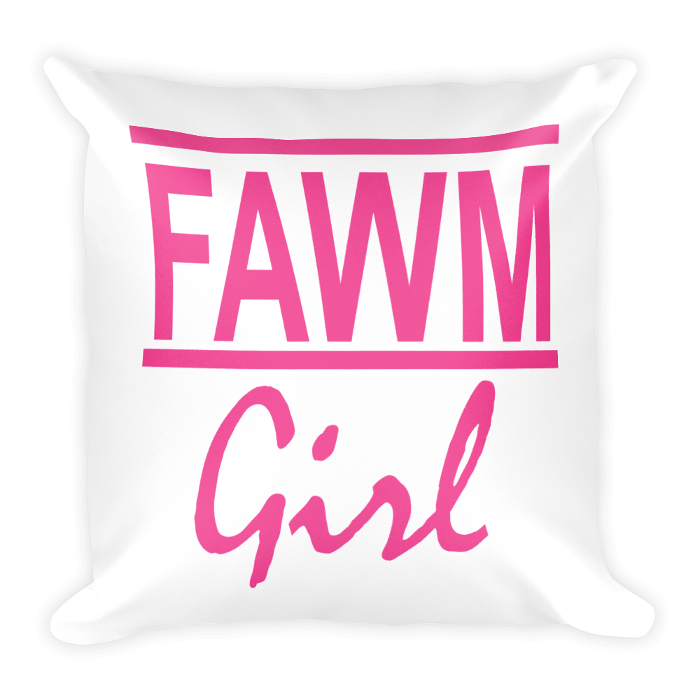 FAWM Girl Square Pillow