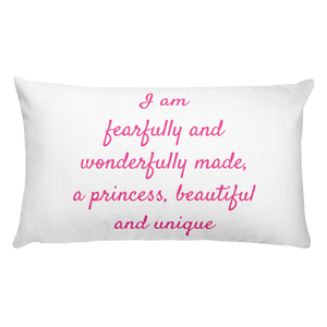 Fearfully & Wonderfully Made Rectangular Pillow