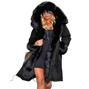 Black Fur Winter Parka (S-3XL) - Canitrini