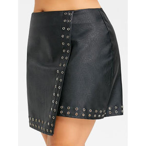 Studded Leather Skirt (Size XL-5XL) - Canitrini