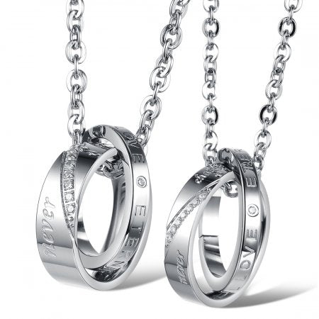 """Eternal Love"" Couple's Necklaces - Canitrini"
