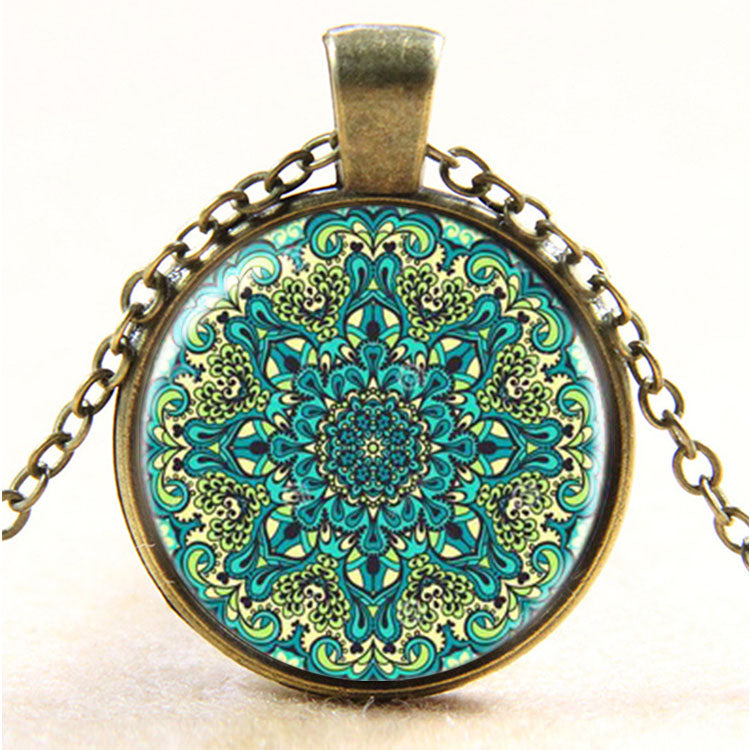 Vintage Henna Yoga Necklace