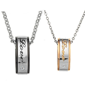 Couple's Love Pendant Necklace Set - Canitrini