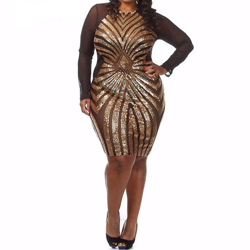 Sequin Party Bodycon (Size XL-3XL) - Canitrini