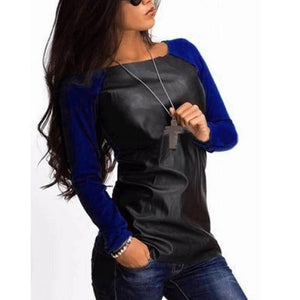 Faux  Leather Casual Tops (S-3XL) - Canitrini