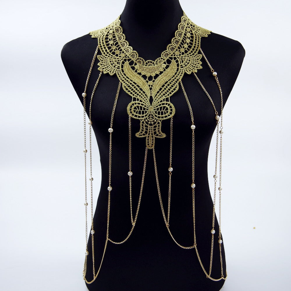 Lace Beaded Body Chain - Canitrini