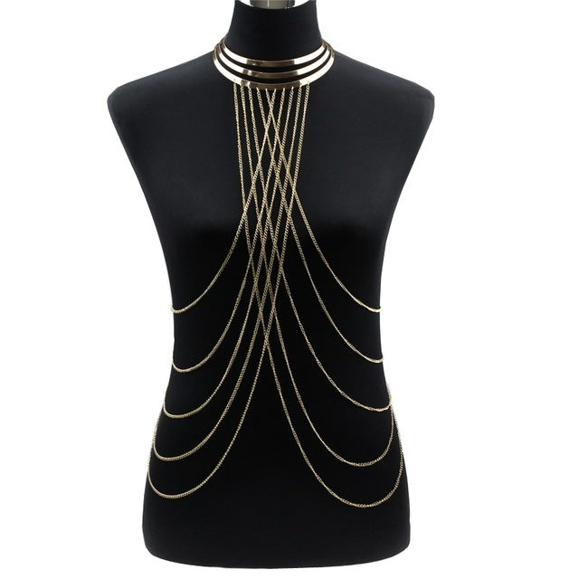 Vega Choker Body Chain
