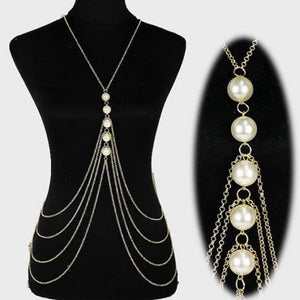 Pearl Multi-Layer Body Chain - Canitrini