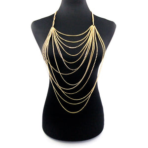 Gold Multi-Layer Rhinestone Chain - Canitrini