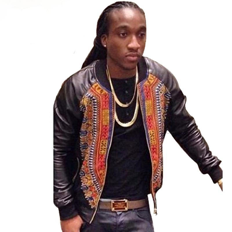 Dashiki Faux Leather Jacket (S-4XL) - Canitrini