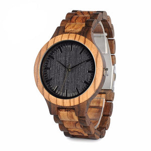 Zebra Ebony Wooden Watch - Canitrini