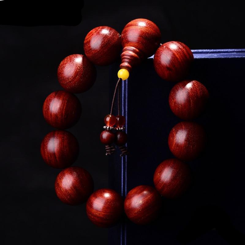 Authentic Lobular Red sandalwood Bracelet - Canitrini